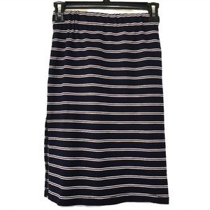 Anthropologie dRA Navy & Red Striped Skirt NWT